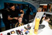 18 August 2019; Elecric Ireland championship haircut event ahead of the Electric Ireland GAA Hurling All-Ireland Minor Championship Final match between Kilkenny and Galway at Croke Park in Dublin. Photo by Eóin Noonan/Sportsfile