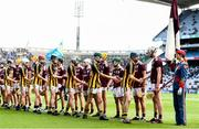 18 August 2019; Respect handshake ahead of the Electric Ireland GAA Hurling All-Ireland Minor Championship Final match between Kilkenny and Galway at Croke Park in Dublin. Photo by Eóin Noonan/Sportsfile