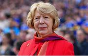 18 August 2019; Sabina Higgins, wife of President of Ireland Michael D Higgins, prior to the GAA Hurling All-Ireland Senior Championship Final match between Kilkenny and Tipperary at Croke Park in Dublin. Photo by Brendan Moran/Sportsfile