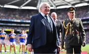 18 August 2019; President Michael D Higgins prior to the GAA Hurling All-Ireland Senior Championship Final match between Kilkenny and Tipperary at Croke Park in Dublin. Photo by Brendan Moran/Sportsfile