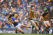 18 August 2019; Séamus Callanan of Tipperary is tackled by Kilkenny players, from left, Padraig Walsh, Huw Lawlor and Paul Murphy during the GAA Hurling All-Ireland Senior Championship Final match between Kilkenny and Tipperary at Croke Park in Dublin. Photo by Brendan Moran/Sportsfile