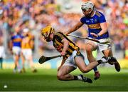 18 August 2019; Richie Leahy of Kilkenny in action against Brendan Maher of Tipperary during the GAA Hurling All-Ireland Senior Championship Final match between Kilkenny and Tipperary at Croke Park in Dublin. Photo by Brendan Moran/Sportsfile