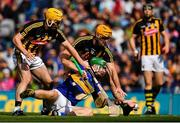 18 August 2019; Noel McGrath of Tipperary in action against Richie Leahy and Colin Fennelly of Kilkenny during the GAA Hurling All-Ireland Senior Championship Final match between Kilkenny and Tipperary at Croke Park in Dublin. Photo by Brendan Moran/Sportsfile