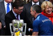 18 August 2019; Ard Stiúrthóir of the GAA Tom Ryan congratulates Liam Sheedy after the GAA Hurling All-Ireland Senior Championship Final match between Kilkenny and Tipperary at Croke Park in Dublin. Photo by Brendan Moran/Sportsfile