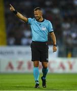 31 July 2019; Referee Svein Oddvar Moen during the UEFA Champions League Second Qualifying Round 2nd Leg match between Qarabag FK and Dundalk at Dalga Arena in Baku, Azerbaijan. Photo by Eóin Noonan/Sportsfile