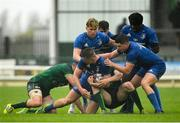 21 August 2019; Will Hickey of Leinster is tackled by Luke Hogge, left, and Cathal Forde of Connacht during the Under 19 Interprovincial Rugby Championship match between Connacht and Leinster at the Sportsground in Galway. Photo by Eóin Noonan/Sportsfile