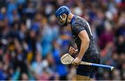 18 August 2019; Tipperary goalkeeper Brian Hogan celebrates his side's third goal, scored by team-mate John O'Dwyer, during the GAA Hurling All-Ireland Senior Championship Final match between Kilkenny and Tipperary at Croke Park in Dublin. Photo by Piaras Ó Mídheach/Sportsfile
