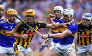 18 August 2019; Colin Fennelly of Kilkenny, supported by team-mate TJ Reid, right, in action against Tipperary players, from left, Ronan Maher, Seán O'Brien, and Padraic Maher during the GAA Hurling All-Ireland Senior Championship Final match between Kilkenny and Tipperary at Croke Park in Dublin. Photo by Piaras Ó Mídheach/Sportsfile