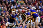 18 August 2019; Tipperary players Brendan Maher, left, and Padraic Maher, right, try to gather possession as James Maher of Kilkenny looks on during the GAA Hurling All-Ireland Senior Championship Final match between Kilkenny and Tipperary at Croke Park in Dublin. Photo by Piaras Ó Mídheach/Sportsfile