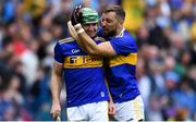 18 August 2019; Tipperary players Noel McGrath, left, and James Barry celebrate after the GAA Hurling All-Ireland Senior Championship Final match between Kilkenny and Tipperary at Croke Park in Dublin. Photo by Piaras Ó Mídheach/Sportsfile