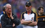 18 August 2019; Kilkenny manager Brian Cody, right, and coach Michael Dempsey after the GAA Hurling All-Ireland Senior Championship Final match between Kilkenny and Tipperary at Croke Park in Dublin. Photo by Piaras Ó Mídheach/Sportsfile