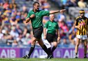 18 August 2019; Referee Patrick Murphy during the Electric Ireland GAA Hurling All-Ireland Minor Championship Final match between Kilkenny and Galway at Croke Park in Dublin. Photo by Piaras Ó Mídheach/Sportsfile
