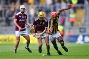 18 August 2019; Tiernan Killeen of Galway in action against Zach Bay Hammond of Kilkenny during the Electric Ireland GAA Hurling All-Ireland Minor Championship Final match between Kilkenny and Galway at Croke Park in Dublin. Photo by Piaras Ó Mídheach/Sportsfile