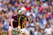 18 August 2019; Timmy Clifford of Kilkenny in action against Christy Brennan of Galway during the Electric Ireland GAA Hurling All-Ireland Minor Championship Final match between Kilkenny and Galway at Croke Park in Dublin. Photo by Piaras Ó Mídheach/Sportsfile