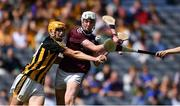 18 August 2019; Greg Thomas of Galway in action against William Halpin of Kilkenny during the Electric Ireland GAA Hurling All-Ireland Minor Championship Final match between Kilkenny and Galway at Croke Park in Dublin. Photo by Piaras Ó Mídheach/Sportsfile