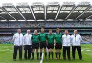18 August 2019; Referee Patrick Murphy with his officials before the Electric Ireland GAA Hurling All-Ireland Minor Championship Final match between Kilkenny and Galway at Croke Park in Dublin. Photo by Piaras Ó Mídheach/Sportsfile