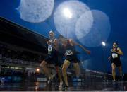21 August 2019; Athletes, from left, Francois Barrier of France, Mike Foppen of Netherlands and Luc Bruchet of Canada approach the finsh line during the men's 5000m event during the 2019 Morton Games at Morton Stadium in Santry, Dublin. Photo by Stephen McCarthy/Sportsfile