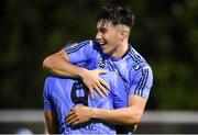 23 August 2019; Liam Kerrigan, right, of UCD celebrates after scoring his side's third goal with team-mate Yoyo Mahdy during the Extra.ie FAI Cup Second Round match between UCD and St Patrick's Athletic at The UCD Bowl in Dublin. Photo by Ben McShane/Sportsfile