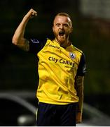 23 August 2019; Jack Doherty of Longford Town celebrates scoring his side's first goal in the first half of extra-time during the Extra.ie FAI Cup Second Round match between Bohemians and Longford Town at Dalymount Park in Dublin. Photo by Piaras Ó Mídheach/Sportsfile