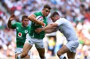 24 August 2019; Garry Ringrose of Ireland is tackled by Owen Farrell of England during the Quilter International match between England and Ireland at Twickenham Stadium in London, England. Photo by Brendan Moran/Sportsfile