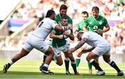 24 August 2019; Rob Kearney of Ireland is tackled by Billy Vunipola, left, and Joe Marler of England during the Quilter International match between England and Ireland at Twickenham Stadium in London, England. Photo by Brendan Moran/Sportsfile