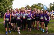 24 August 2019; Competitors from Fingal Womens Running Group prior to competing during the KBC & Dublin Marathon Race Series, where, over 5,200 runners took part in the Frank Duffy 10 Mile, part of the KBC Dublin Race Series 2019 at Phoenix Park in Dublin. Photo by Sam Barnes/Sportsfile