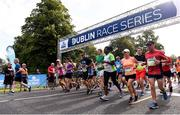 24 August 2019; A general view of the start of the KBC & Dublin Marathon Race Series, where, over 5,200 runners took part in the Frank Duffy 10 Mile, part of the KBC Dublin Race Series 2019 at Phoenix Park in Dublin. Photo by Sam Barnes/Sportsfile