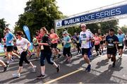 24 August 2019;  A general view of the start during the KBC & Dublin Marathon Race Series, where, over 5,200 runners took part in the Frank Duffy 10 Mile, part of the KBC Dublin Race Series 2019 at Phoenix Park in Dublin. Photo by Sam Barnes/Sportsfile