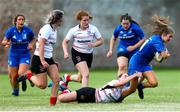 24 August 2019; Rachel Conroy of Leinster is tackled by Kim Johnston of Ulster during the Under 18 Girls Interprovincial Rugby Championship match between Ulster and Leinster at Armagh RFC in Armagh. Photo by John Dickson/Sportsfile