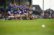 24 August 2019; Tipperary captain Craig Morgan, centre, breaks from the team photo along with team-mates prior to the Bord Gáis Energy GAA Hurling All-Ireland U20 Championship Final match between Cork and Tipperary at LIT Gaelic Grounds in Limerick. Photo by David Fitzgerald/Sportsfile