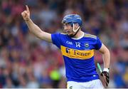 24 August 2019; Billy Seymour of Tipperary celebrates scoring his side's third goal during the Bord Gáis Energy GAA Hurling All-Ireland U20 Championship Final match between Cork and Tipperary at LIT Gaelic Grounds in Limerick. Photo by Piaras Ó Mídheach/Sportsfile