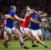 24 August 2019; Billy Seymour of Tipperary is tackled by Sean O'Leary of Cork during the Bord Gáis Energy GAA Hurling All-Ireland U20 Championship Final match between Cork and Tipperary at LIT Gaelic Grounds in Limerick. Photo by David Fitzgerald/Sportsfile