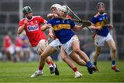 24 August 2019; Ciarán Connolly of Tipperary is tackled by Tommy O'Connell of Cork during the Bord Gáis Energy GAA Hurling All-Ireland U20 Championship Final match between Cork and Tipperary at LIT Gaelic Grounds in Limerick. Photo by David Fitzgerald/Sportsfile