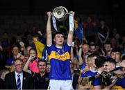 24 August 2019; Tipperary captain Craig Morgan lifts the James Nowlan Cup following the Bord Gáis Energy GAA Hurling All-Ireland U20 Championship Final match between Cork and Tipperary at LIT Gaelic Grounds in Limerick. Photo by Piaras Ó Mídheach/Sportsfile