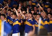 24 August 2019; Tipperary players celebrate following the Bord Gáis Energy GAA Hurling All-Ireland U20 Championship Final match between Cork and Tipperary at LIT Gaelic Grounds in Limerick. Photo by David Fitzgerald/Sportsfile