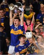 24 August 2019; Tipperary captain Craig Morgan lifts the trophy following the Bord Gáis Energy GAA Hurling All-Ireland U20 Championship Final match between Cork and Tipperary at LIT Gaelic Grounds in Limerick. Photo by David Fitzgerald/Sportsfile