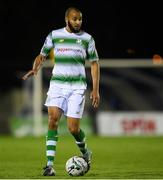 19 August 2019; Ethan Boyle of Shamrock Rovers during the SSE Airtricity League Premier Division match between Waterford and Shamrock Rovers at RSC in Waterford. Photo by Eóin Noonan/Sportsfile
