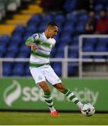 19 August 2019; Graham Burke of Shamrock Rovers during the SSE Airtricity League Premier Division match between Waterford and Shamrock Rovers at RSC in Waterford. Photo by Eóin Noonan/Sportsfile