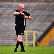 24 August 2019; Referee Gerry Carmody during the TG4 All-Ireland Ladies Football Junior Championship Semi-Final match between Fermanagh and London at St Tiernach's Park in Clones, Monaghan. Photo by Ray McManus/Sportsfile