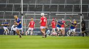 24 August 2019; Billy Seymour of Tipperary celebrates after scoring a goal during the Bord Gáis Energy GAA Hurling All-Ireland U20 Championship Final match between Cork and Tipperary at LIT Gaelic Grounds in Limerick. Photo by David Fitzgerald/Sportsfile