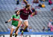 25 August 2019; Mairéad Seoighe of Galway celebrates after scoring her side's first goal during the TG4 All-Ireland Ladies Senior Football Championship Semi-Final match between Galway and Mayo at Croke Park in Dublin. Photo by Sam Barnes/Sportsfile