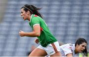 25 August 2019; Rachel Kearns of Mayo celebrates after scoring her side's first goal during the TG4 All-Ireland Ladies Senior Football Championship Semi-Final match between Galway and Mayo at Croke Park in Dublin. Photo by Brendan Moran/Sportsfile