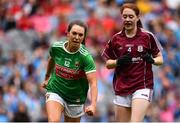 25 August 2019; Niamh Kelly of Mayo celebrates after scoring her side's second goal during the TG4 All-Ireland Ladies Senior Football Championship Semi-Final match between Galway and Mayo at Croke Park in Dublin. Photo by Sam Barnes/Sportsfile