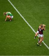 25 August 2019; Mairéad Seoighe celebrates with Megan Glynn of Galway following the TG4 All-Ireland Ladies Senior Football Championship Semi-Final match between Galway and Mayo at Croke Park in Dublin. Photo by Eóin Noonan/Sportsfile