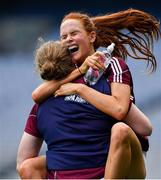 25 August 2019; Olivia Divilly of Galway celebrates at the final whistle of the TG4 All-Ireland Ladies Senior Football Championship Semi-Final match between Galway and Mayo at Croke Park in Dublin. Photo by Brendan Moran/Sportsfile