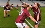 25 August 2019; Shauna Molloy of Galway, right, celebrates with Mairéad Coyne following the TG4 All-Ireland Ladies Senior Football Championship Semi-Final match between Galway and Mayo at Croke Park in Dublin. Photo by Sam Barnes/Sportsfile