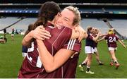 25 August 2019; Megan Glynn of Galway, right celebrates with Fabienne Cooney following the TG4 All-Ireland Ladies Senior Football Championship Semi-Final match between Galway and Mayo at Croke Park in Dublin. Photo by Sam Barnes/Sportsfile