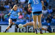 25 August 2019; Caoimhe O'Connor of Dublin scores her side's first goal during the TG4 All-Ireland Ladies Senior Football Championship Semi-Final match between Dublin and Cork at Croke Park in Dublin. Photo by Brendan Moran/Sportsfile