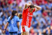 25 August 2019; Aine O'Sullivan of Cork reacts to a missed goal chance during the TG4 All-Ireland Ladies Senior Football Championship Semi-Final match between Dublin and Cork at Croke Park in Dublin. Photo by Sam Barnes/Sportsfile