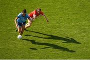 25 August 2019; Niamh McEvoy of Dublin in action against Aine O'Sullivan of Cork during the TG4 All-Ireland Ladies Senior Football Championship Semi-Final match between Dublin and Cork at Croke Park in Dublin. Photo by Eóin Noonan/Sportsfile